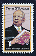 Carter G. Woodson Stamp Royalty Free Stock Photo