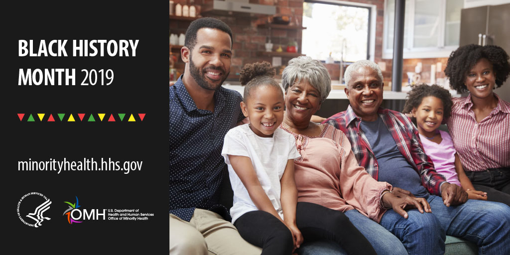 African American Family smiling - Black History Month 2019