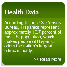 Health Data - According to the U.S. Census Bureau, Hispanics represent approximately 16.7 percent of the U.S. population, which makes people of Hispanic origin the nation's largest ethnic minority…