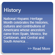 History - National Hispanic Heritage Month celebrates the histories, cultures and contributions of Americans whose ancestors came from Spain, Mexico, the Caribbean, and Central and South America…