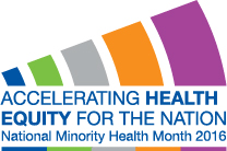 National Minority Health Month 2016 Logo - Vector