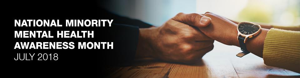 Man holding a woman's hands - National Minority Mental Health Awareness Month 2018