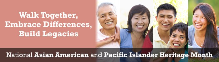Asian pacific Family together
