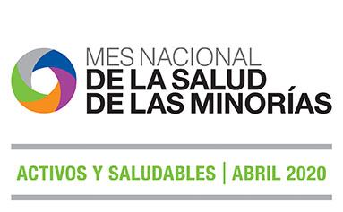 low resolution National Minority Health Month 2020 logo Spanish