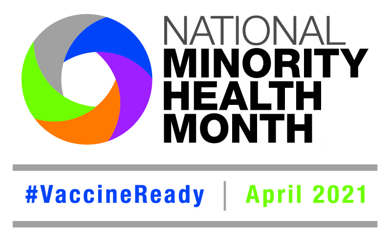 low resolution National Minority Health Month 2021 logo English