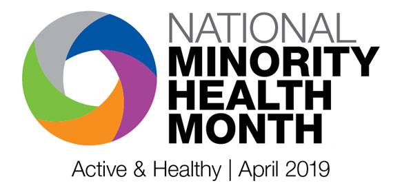 low resolution National Minority Health Month 2019 logo