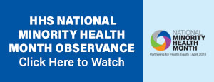 News and Spotlight mini banner - National Miniority Health Month
