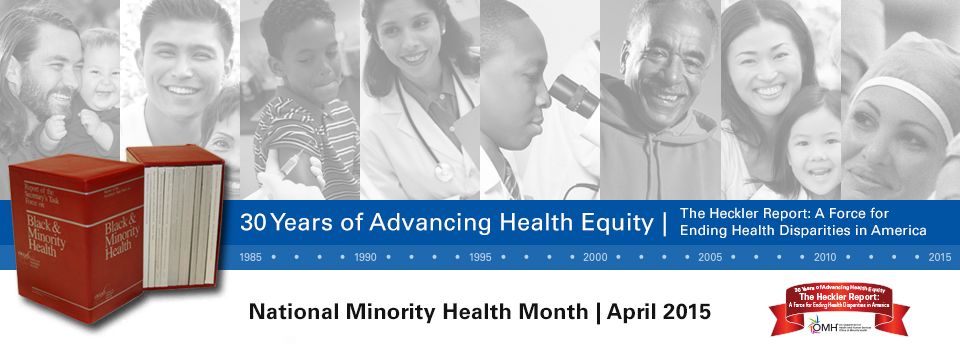 National Minority Health Month Banner